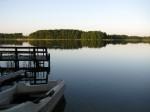 Jezioro, pomost